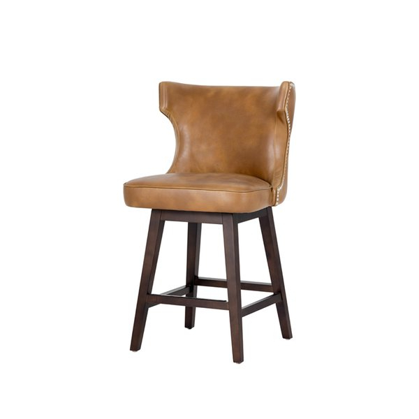 """Recent Swivel Tobacco Leather Chairs Pertaining To Shop Neville Tobacco Tan Faux Leather 26"""" Swivel Counter Stool (Gallery 11 of 20)"""