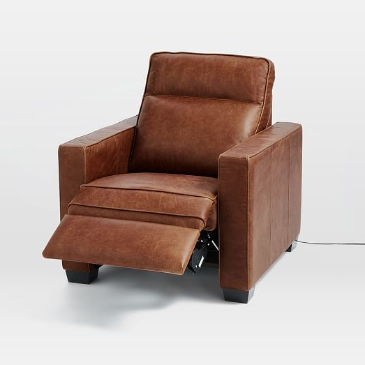 Reclining Leather Pertaining To Swivel Tobacco Leather Chairs (View 6 of 20)