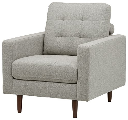 Revolve Swivel Accent Chairs Intended For Recent Amazon: Rivet Cove Mid Century Tufted Accent Chair, Light Grey (View 4 of 20)