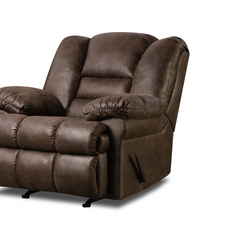 Rogan Leather Cafe Latte Swivel Glider Recliners Intended For Most Current Furniture: Surprising Simmons Recliners For Contemporary Living Room (View 8 of 20)
