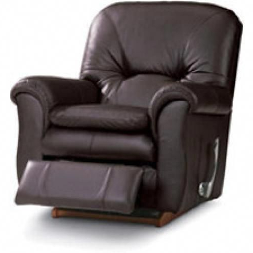 Rogan Leather Cafe Latte Swivel Glider Recliners Regarding Latest La Z Boy Gavin Reclina Rocker #lazyboychair (View 6 of 20)