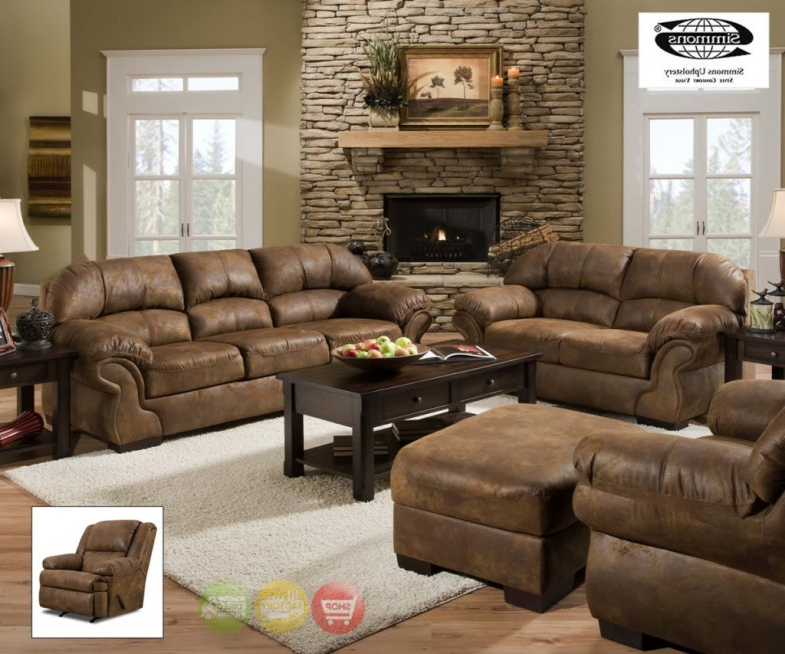 Rogan Leather Cafe Latte Swivel Glider Recliners With Fashionable Furniture: Surprising Simmons Recliners For Contemporary Living Room (View 12 of 20)