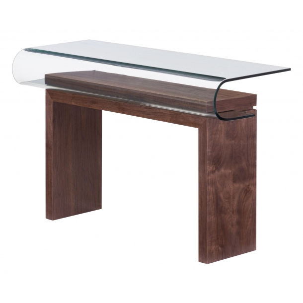 Roland Console Table Walnut (404064)Zuo Modern Intended For Popular Balboa Carved Console Tables (View 19 of 20)