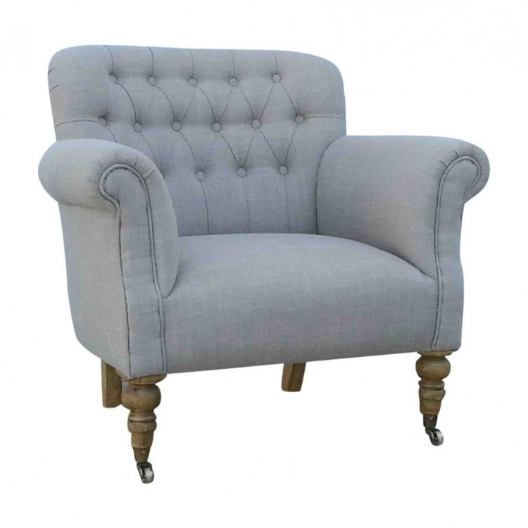 Rolled Arm & Buttoned Back Armchair – Allissias Attic & Vintage Intended For Latest Loft Arm Sofa Chairs (Gallery 2 of 20)