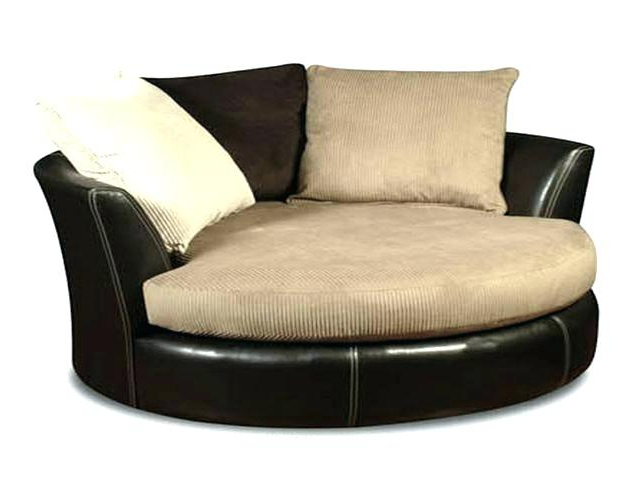 Round Swivel Chairs Oversized Chair Furniture Tub Slipcover Office Pertaining To Most Recently Released Round Sofa Chairs (View 11 of 20)