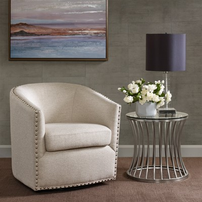 Sheldon Swivel Chair – Natural Multi (View 16 of 18)