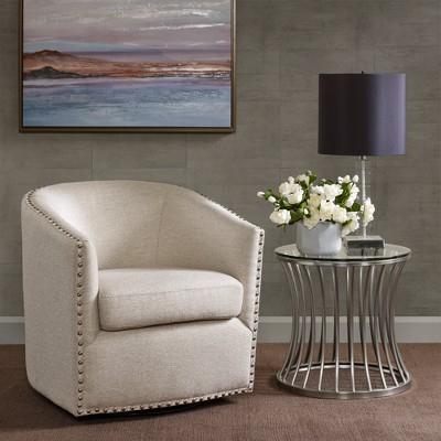 Sheldon Swivel Chair – Natural Multi (View 9 of 18)