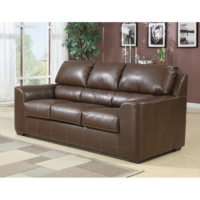 Shop Andrew Full Brown Sleeper Sofa – Free Shipping Today Pertaining To Most Recently Released Andrew Leather Sofa Chairs (View 16 of 20)