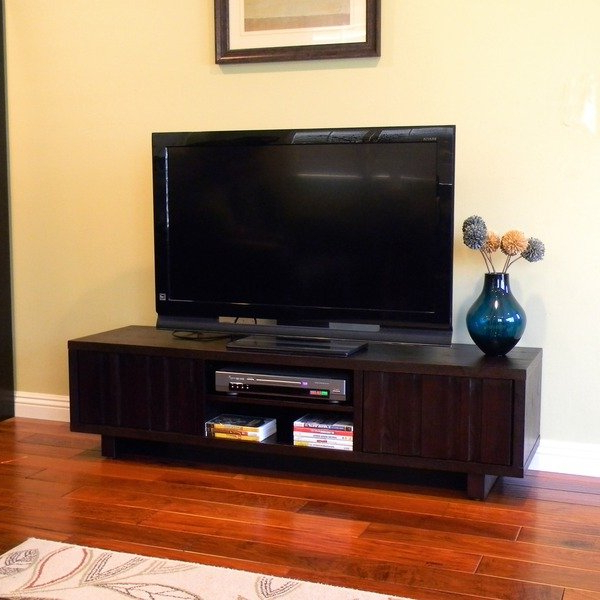 "Shop Conrad Dark Birch Tv Stand/ Tv Console Table – 59"" – Free Within Well Known Birch Tv Stands (View 16 of 20)"