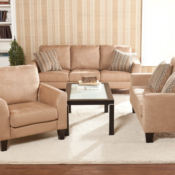 Shop Harper Blvd Ascot Mocha Sofa/ Loveseat/ Chair Set – Free For Preferred Sofa Loveseat And Chair Set (View 17 of 20)