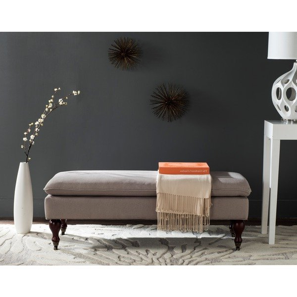 Shop Safavieh Mansfield Linen Pillowtop Ottoman – Free Shipping Inside Recent Mansfield Beige Linen Sofa Chairs (View 14 of 20)