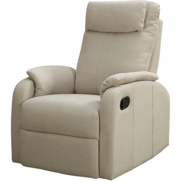 Shop Sand Linen Fabric Swivel Rocker Recliner – Free Shipping Today For Latest Gannon Linen Power Swivel Recliners (View 11 of 20)