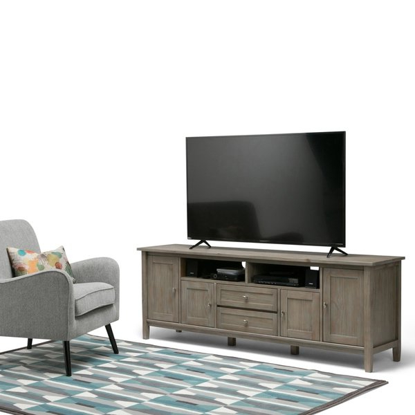 Shop Wyndenhall Norfolk 72 Inch Tv Stand For Tvs Up To 80 Inches Throughout Famous 80 Inch Tv Stands (View 19 of 20)