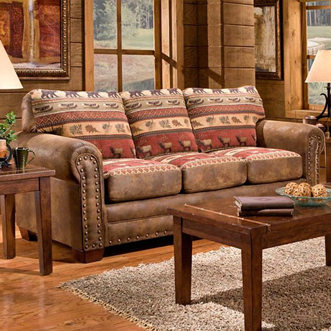 Sierra Foam Ii Oversized Sofa Chairs Regarding Widely Used Shop Sierra Mountain Lodge Sleeper Sofa – Free Shipping On Orders (View 3 of 20)