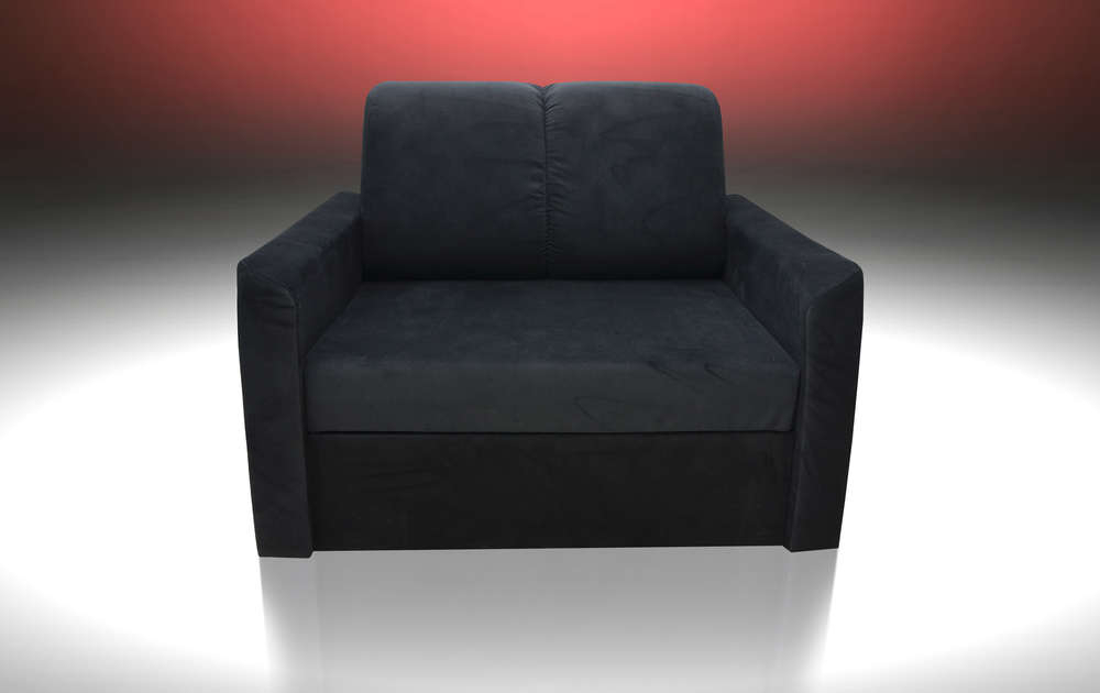 Single Chair Sofa Bed 'sun' , Velvet Fabric, All Colours Available With Regard To Famous Single Chair Sofa Bed (View 15 of 20)