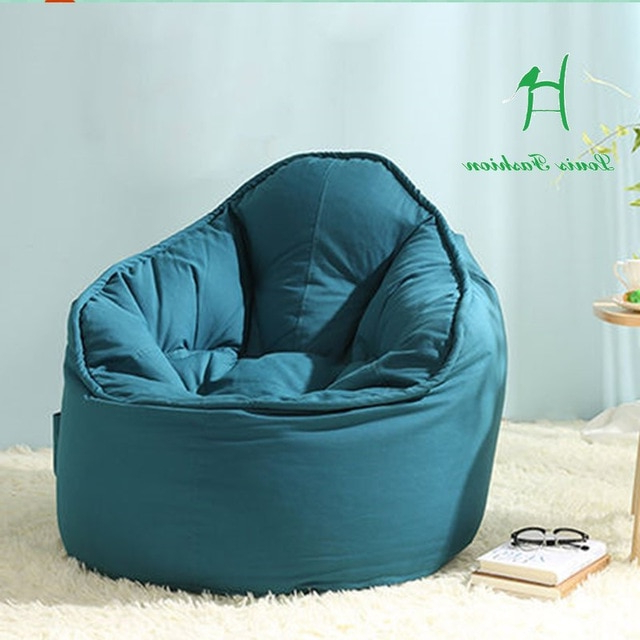 Single Couch Potatoes Creative Lazy Bean Bag Sofa A Lazy Person Pertaining To Trendy Bean Bag Sofa Chairs (View 13 of 20)