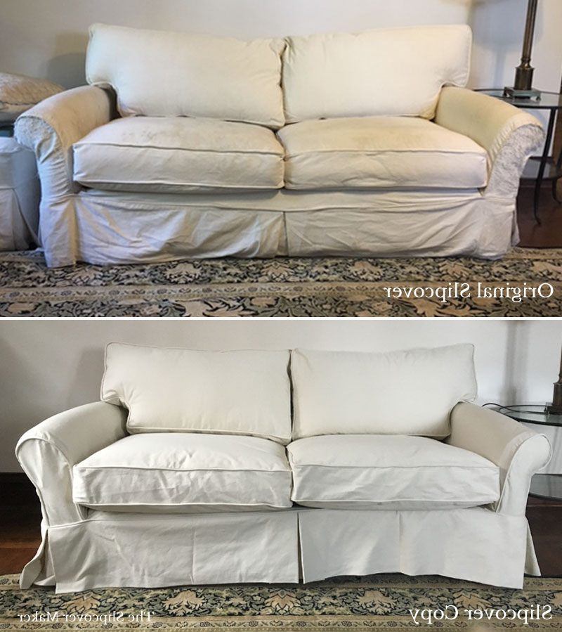 Slipcover Replacement: Can Your Old Sofa Or Chair Cover Be Copied Intended For Recent Sofa And Chair Slipcovers (View 4 of 20)