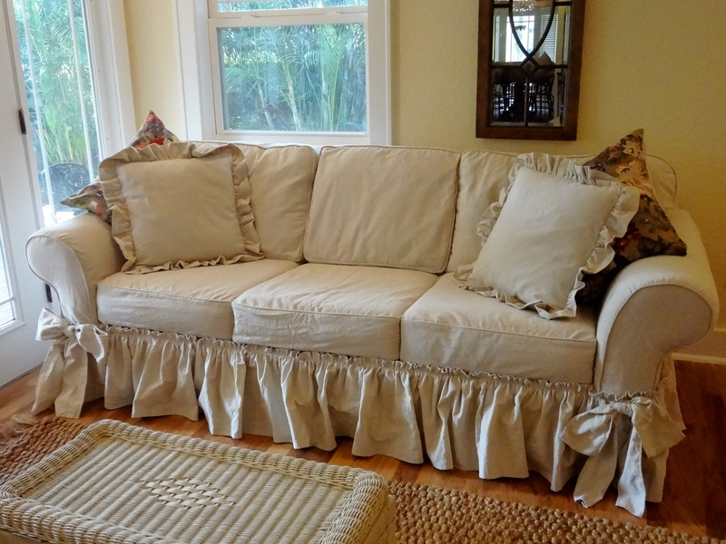 Slipcovers For Sofas And Chairs With 2017 Dropcloth Slip Covers – Marge's Custom Slipcovers (View 16 of 20)