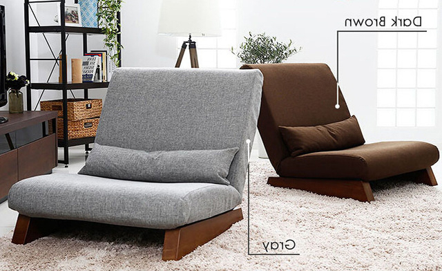 Sofa Beds Chairs In Latest Floor Folding Single Seat Sofa Bed Modern Fabric Japanese Living (View 17 of 20)