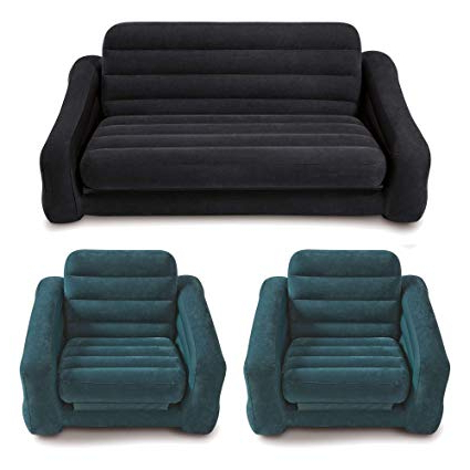Sofa Beds Chairs Regarding Well Known Amazon – Intex Inflatable Queen Size Pull Out Futon Sofa Bed + (View 13 of 20)