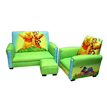 Sofa Chair And Ottoman Intended For 2018 Amazon: Disney Deluxe Toddler Sofa, Chair And Ottoman Set (View 9 of 20)