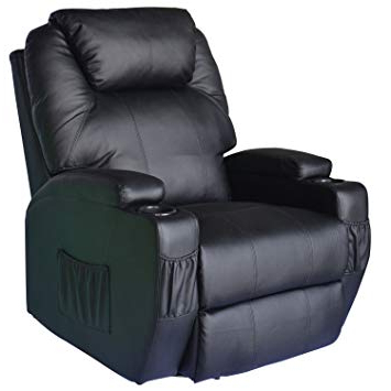 Sofa Chair Recliner Intended For Most Recently Released Homcom Luxury Leather Recliner Sofa Chair Armchair Cinema Massage (View 5 of 20)