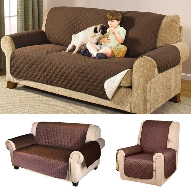 Sofa Cover Protector For Kids Dog/cat Pets Reversible Furniture Within Newest Sofa And Chair Covers (View 17 of 20)