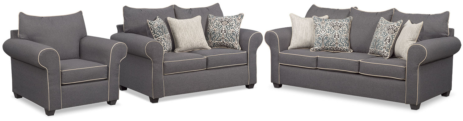 Featured Photo of Sofa Loveseat And Chair Set