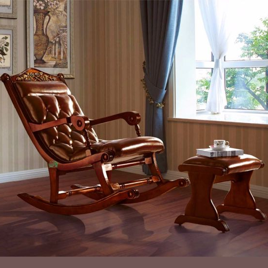 Sofa Rocking Chairs Pertaining To Widely Used China Classic Leather Rocking Chair For Living Room Furniture (View 18 of 20)