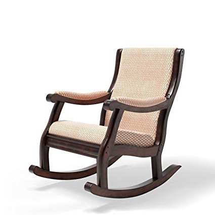 Sofa Rocking Chairs Throughout 2017 Amazon: Furniture Of America Betty Rocking Chair, Antique Oak (View 8 of 20)
