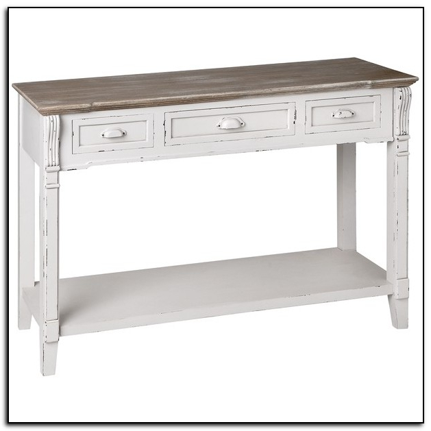 Sofa Table: Interesting Antique White Sofa Table Ideas Distressed Inside Current Antique White Distressed Console Tables (Gallery 3 of 20)