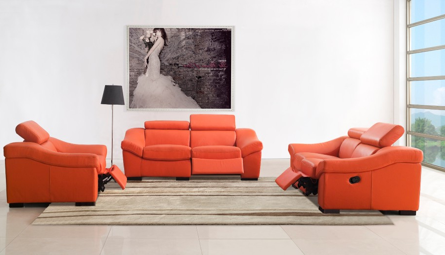 Sweet Example Of Modern Furniture Design With Transformable Orange With Regard To Newest Orange Sofa Chairs (View 18 of 20)