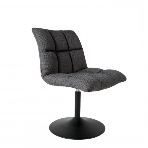 Swivel Chair Mini Bar Dark Grey – Dutchbone Nordic Decoration Home In Trendy Dark Grey Swivel Chairs (View 9 of 20)