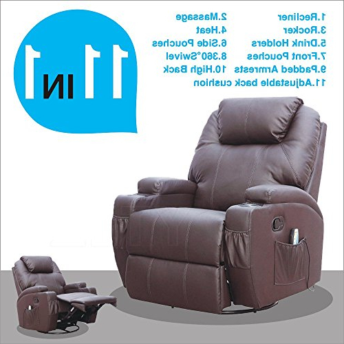 Swivel Lounge Chair: Amazon Regarding Latest Amala White Leather Reclining Swivel Chairs (View 11 of 20)
