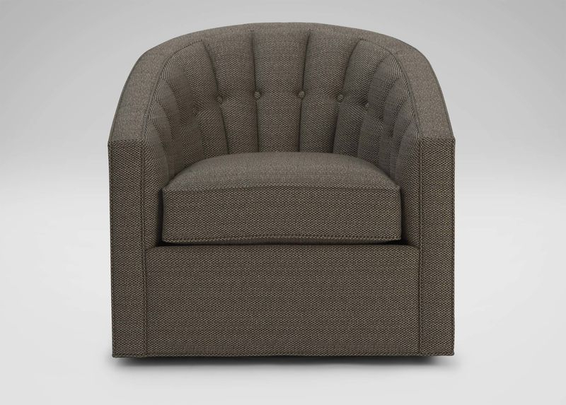 Swivel Tobacco Leather Chairs In Most Popular Rondo Swivel Chair Tobacco Leather Color To Match Rug And Built Ins (View 7 of 20)