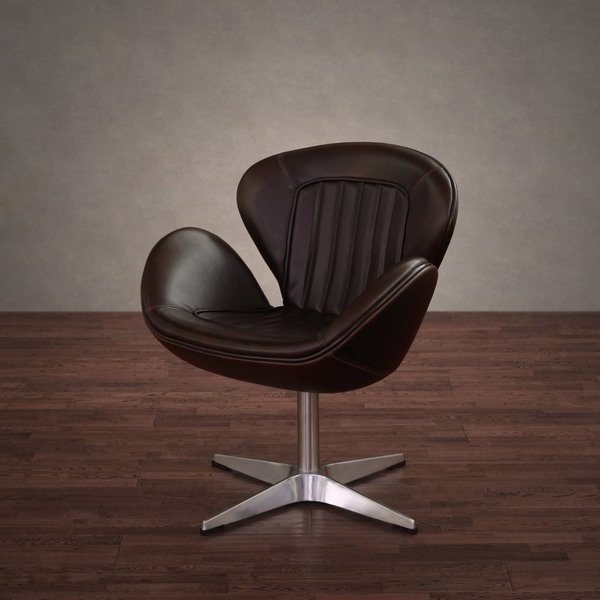 Swivel Tobacco Leather Chairs In Most Popular Shop Amelia Vintage Tobacco Leather Swivel Chair – Free Shipping (View 3 of 20)