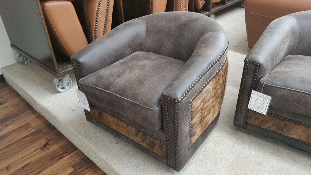 Swivel Tobacco Leather Chairs Throughout 2018 Outlet Store ‹‹ The Leather Sofa Company (View 20 of 20)