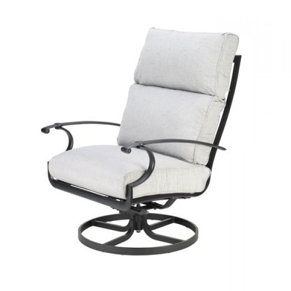 Taylor Creek – Manor Swivel Rocker – Patio Furniture Inside Well Known Manor Grey Swivel Chairs (View 6 of 20)
