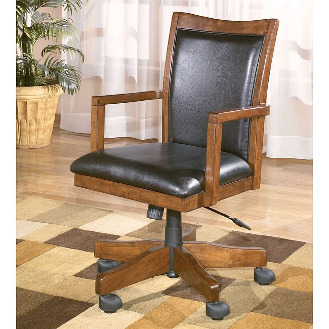 Theo Ii Swivel Chairs Inside Widely Used Theo Swivel Arm Chair W/ Casters Signature Designashley (View 13 of 20)
