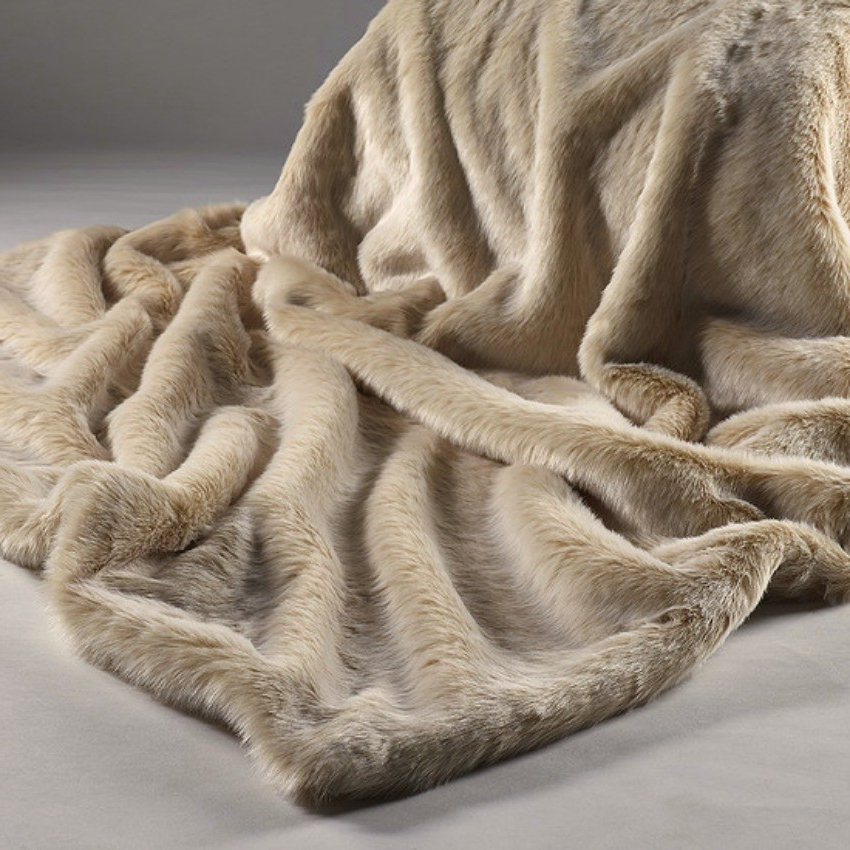 Throws For Sofas And Chairs Intended For Preferred Beige Faux Fur Throw With Cream Suedette Reverse  To Use On Sofas (View 11 of 20)