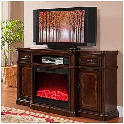 "Trendy 72"" Cherry Media Electric Fireplace At Big Lots (View 17 of 20)"