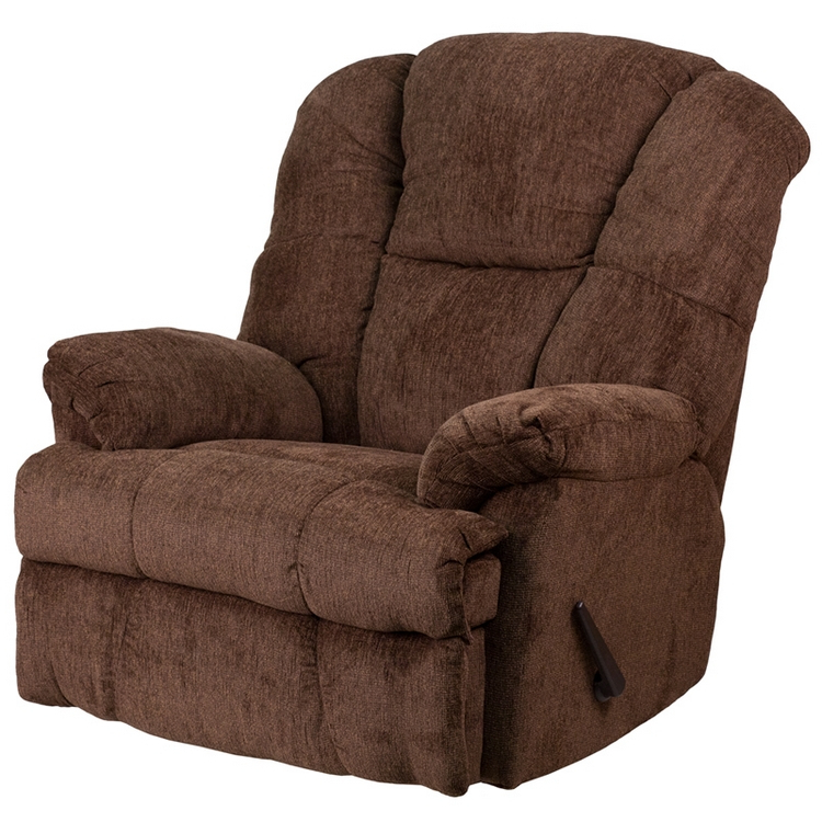 Trendy Flash Furniture Contemporary Hillel Chocolate Chenille Rocker Recliner For Hercules Chocolate Swivel Glider Recliners (View 8 of 20)