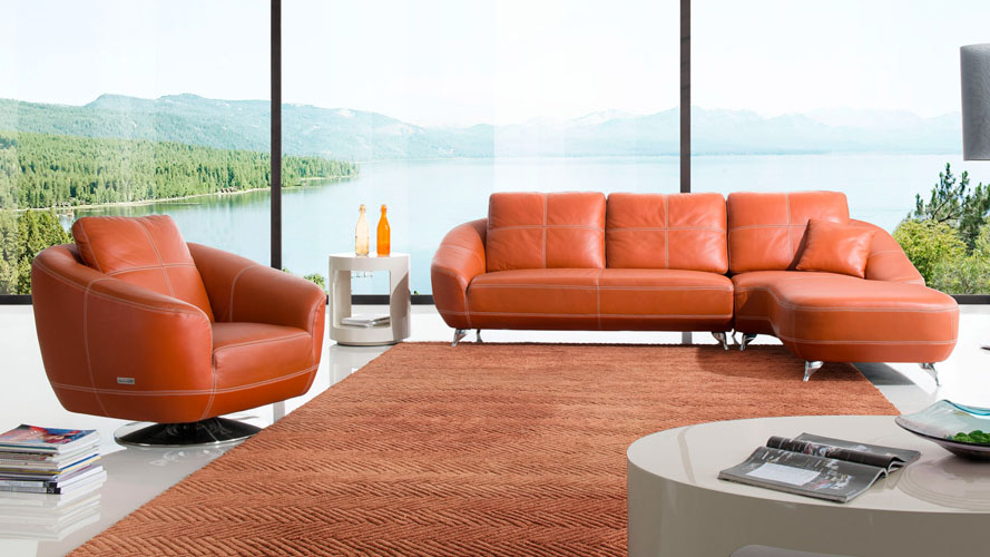 Trendy Lucy Grey Sofa Chairs In Orange Lucy Leather Sectional Sofa (View 15 of 20)