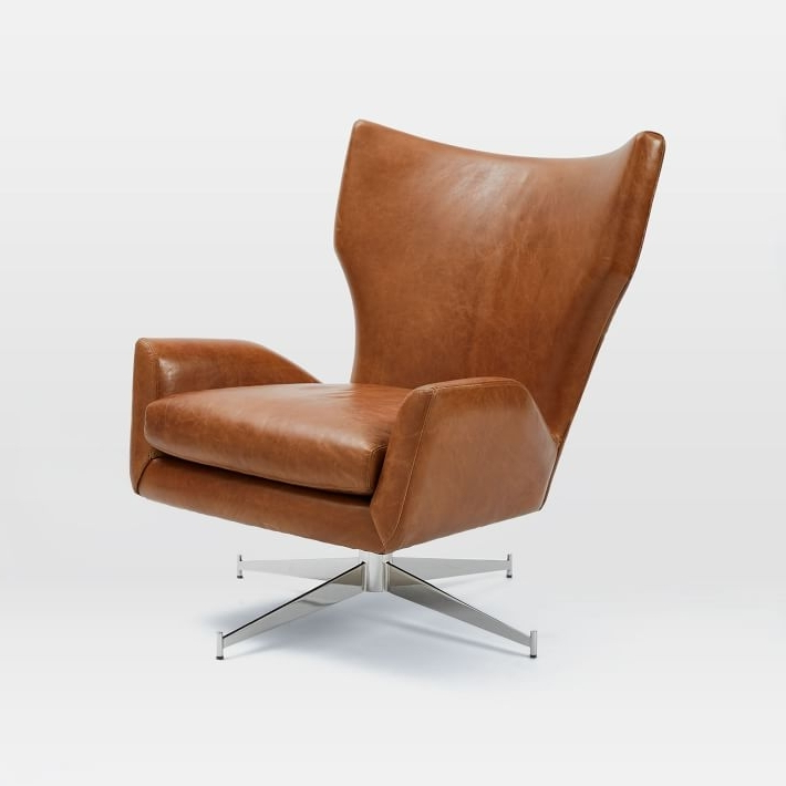 Turner Leather Swivel Chair Chairs Chaises Ethan Allen – Brightonandhove Throughout Trendy Kawai Leather Swivel Chairs (View 16 of 20)