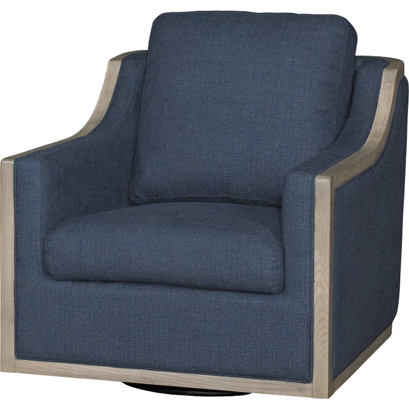 Umber Grey Swivel Accent Chairs In Current Midnight Navy Blue Swivel Barrel Accent Chair – Bayly (Gallery 9 of 20)