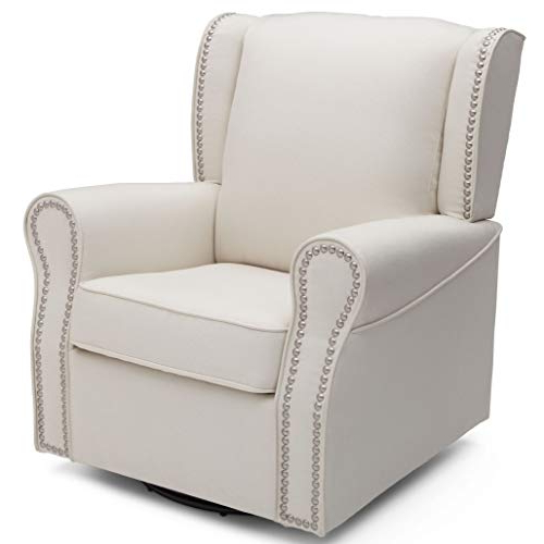 Upholstered Swivel Chair: Amazon With Most Up To Date Decker Ii Fabric Swivel Glider Recliners (View 13 of 20)