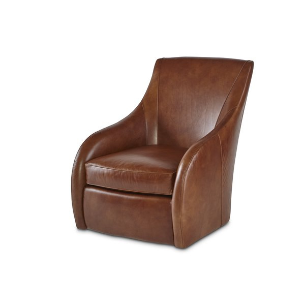 Wayfair Intended For Chocolate Brown Leather Tufted Swivel Chairs (View 10 of 20)