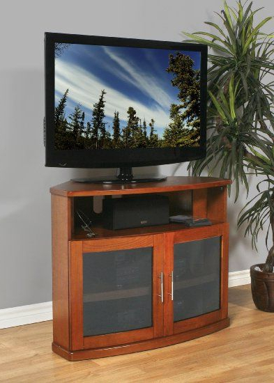 Well Known 40 Inch Corner Tv Stands Inside Amazon: Plateau Newport 40 B Corner Wood Tv Stand, 40 Inch (View 19 of 20)