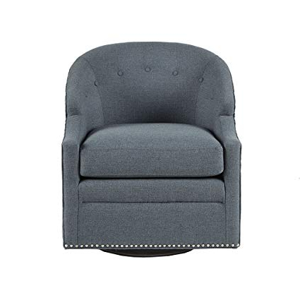 Well Known Abbey Swivel Glider Recliners Pertaining To Amazon: Abbey Swivel Glider Chair With Pewter Nailheads Blue See (View 2 of 20)