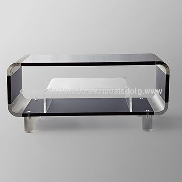 Well Known Acrylic Tv Stand With Small Coffee Table (View 3 of 20)